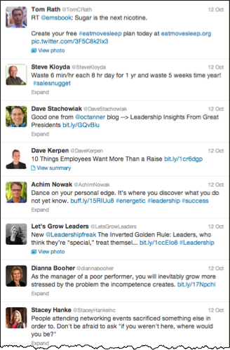 Engaging Leaders to Follow on Twitter